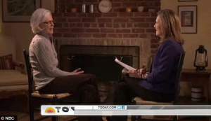 Mimi Alford speaking to NBC's Meredith Vieira
