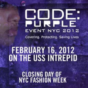 Fashion Week NYC-Code Purple Event-Help Stamp Out Malaria