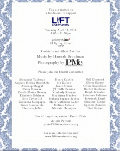 LIFT Investments Spring Benefit