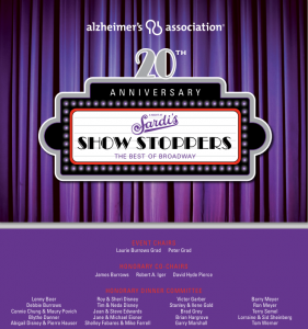 """A Night at Sardi's"" 20th Anniversary Alzheimer's Association gala"