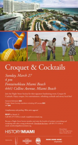 Croquet and Cocktails in Miami