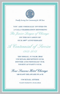 Junior League of Chicago's Centennial Gala 1912-2012