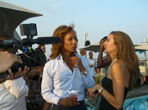 Real Housewives of DC's Paul Wharton with friend Erika Gutierrez