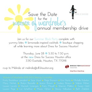 Women of Wardrobe's Summer Block Party in Houston