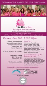 Celebrate the 4th annual DC Newsbabes Bash for Breast Cancer—NEWSMEN IN PINK