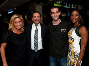Victoria Michael, Redline's owner Mick Dadlani, Chef Fabrice Reymond and Michele Hudson