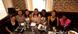 Shari Sheffield, Rosemarie Salguero, Camelia Mazard, Michele Hudson and Eve Monica at DC's Redline