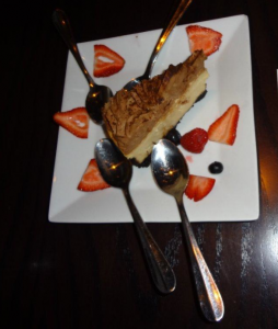Bailey's Irish Cream Cheesecake $10 Served with a coffee coulis