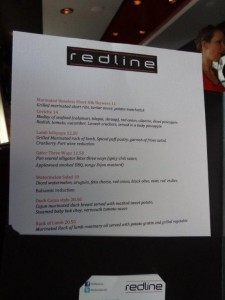 REDLINE GASTROLOUNGE Preview Menu Photo By: Michele Hudson
