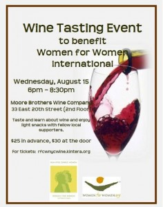 Wine Tasting Fundraiser to Benefit WfWI