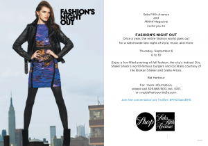 FASHION'S NIGHT OUT AT SAKS FIFTH AVENUE BAL HARBOUR