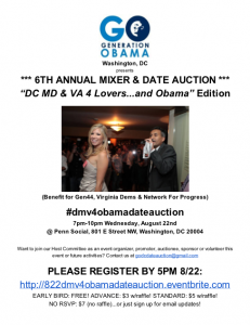 SIXTH ANNUAL GO-DC MIXER & DATE AUCTION