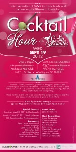 Sip With Socialites' September Cocktail Hour to Benefit Blessed Haven Inc.
