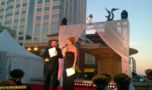 Emcees Alfred and Cheri Garr