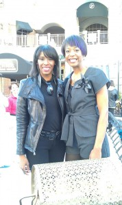 Our Lovely Michele Hudson with Designer Aidah Fontenot