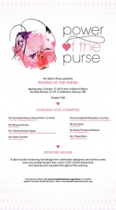 3rd Annual Power of the Purse to Benefit My Sister's Place