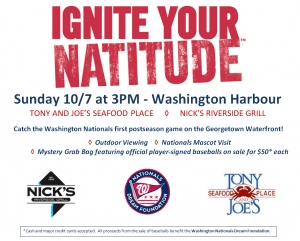 Washington Nationals Playoff Watch Party to Benefit a Great Cause