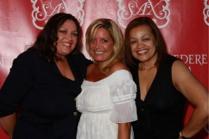 Camelia C. Mazard and Victoria Michael with friend Queenie Plater