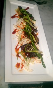 BBQ Beef Ribs Korean BBQ glaze, grilled scallions jasmine rice & napa salad