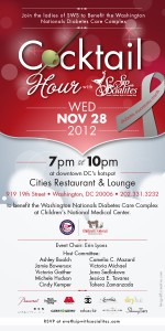 November Cocktail Hour to Benefit the Washington Nationals Diabetes Care Complex
