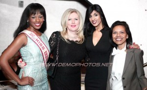 America's Miss District of Columbia 2012 Sarah Hillware, Tammy Britt of TTR Sotheby's International Realty, Shar Shar and Felicya Stern