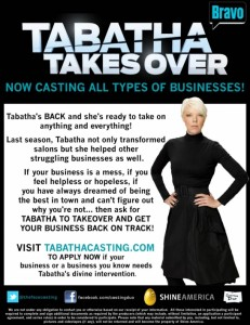 Tabatha's Takeover is NOW CASTING for Season 5