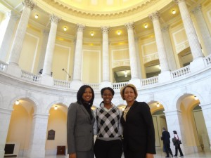 Inauguration Reception with Patty Anderson and Mecole Ingramat at the Cannon House Office Building.