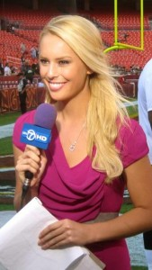 Emcee Britt McHenry of WJLA-TV, ABC 7