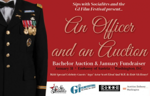 Bid on handsome bachelors representing different branches of the military.