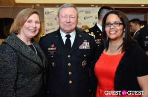 Four Star U.S. Gen. Frank J. Grass (27th Chief of the National Guard), his wife Patricia (on his left) and GI Film Festival Co-Founder Laura Law-Millett (far right).