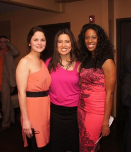 Sarah O'Malley of Villages of Hope, Touching Heart co-founder Helen Yi, and event chair Michele Hudson.