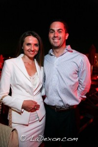 Bachelor Paul Pitcher of Monumental Sports & Entertainment pictured with Jana Sedlakova