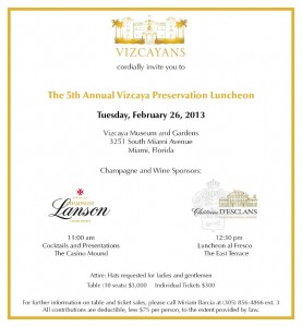 The 5th Annual Vizcaya Preservation Luncheon