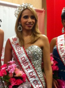Special Guest and Newly Crowned America's Miss District of Columbia 2013 Antoinette Cordova