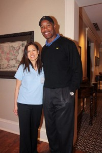 Touching Heart Co-founder Helen Yi with Charles Mann