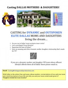 CASTING Elite Dallas Mothers and Daughters!