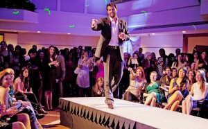 A date with actor Scott Elrod was auctioned at our January fundraiser.