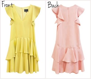 Ruffle Dress available in Pink or Canary
