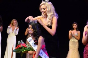 Bindhu's crowning moment with Miss DC 2012 Allyn Rose.