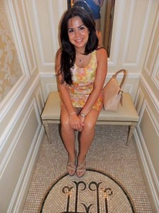 Resting my feet for the long day ahead in the elevator at Hôtel Hermitage Monte-Carlo.