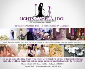 Exclusively Entertainment's Wedding and Bridal Show Sunday, September 29th, from 12 to 6 PM at the Bethesda Marriott