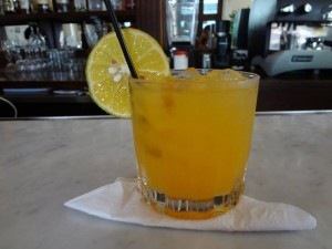 An original Screwdriver at Las Clementinas Hotel bar.