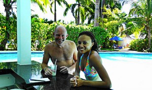 Michael and Ashley at the Hibiscus Pool Bar