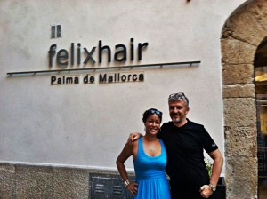 Felix Götze owner of Felix Salon and I
