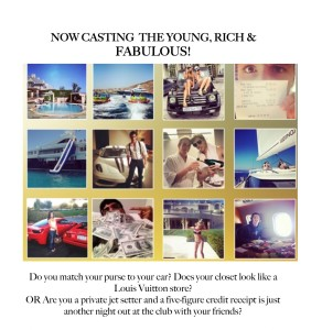 CASTING Young, Rich Socialites Nationwide for a MAJOR Cable Network