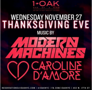 Thanksgiving Eve at 1OAK in the heart of Chelsea