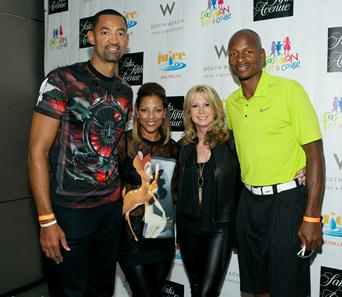 Juwan and Jenine Howard, Deborah Slack, and Ray Allen