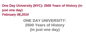 One Day University in New York City