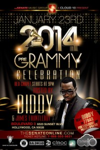 "2014 Pre-Grammy Party Hosted by Sean ""Diddy"" Combs with DJ Paris Hilton"