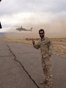 Scott Elrod on the set of Lone Survivor.